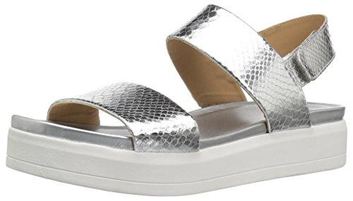 (Franco Sarto Women's Kenan Wedge Sandal, Silver, 10 M US)