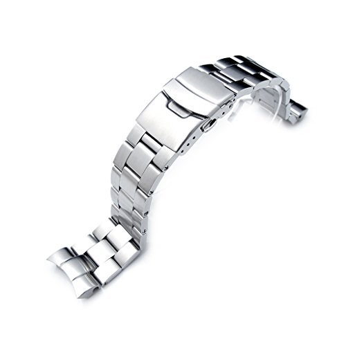 22mm Super Oyster Watch Bracelet for SEIKO SNZF17 Sea Urchin, Diver Clasp, ()