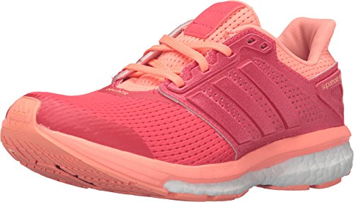 adidas Supernova Glide 8 Womens Running Shoe 6 Shock Red/Sun Glow (Adidas Supernova Glide 6)