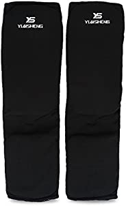 Shin Guard, 2 Colors Breathable Anti-Slip Leg Ankle Protection Pads for Muay Thai Boxing Training