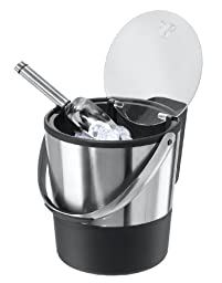 Oggi Double Wall Ice Bucket with Flip Lid and Stainless Ice Scoop