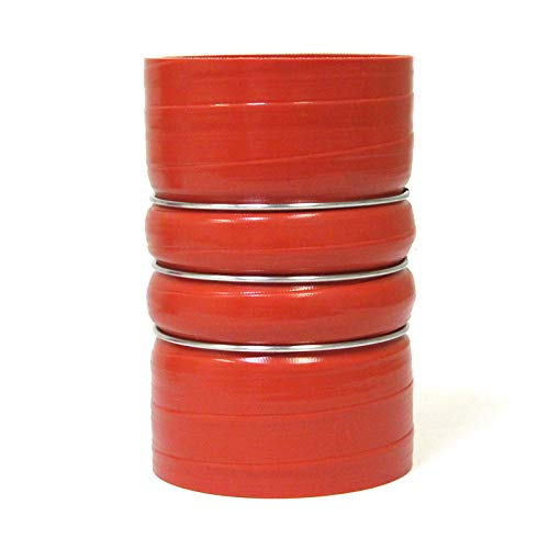 HPS 2-1/2'' ID, 8'' Length, Silicone CAC Coupler Hose Hot Side, High Temp 4-ply Aramid Reinforced, Maximum Temperature Rating: 500F by HPS