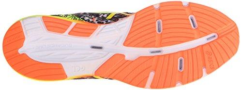 Asics Mens Gel Iper Tri 2 Scarpa Da Corsa Nero / Arancione Caldo / Giallo Flash