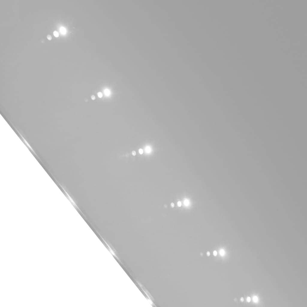 vidaXL Badspiegel LED Beleuchtung 100x60cm Lichtspiegel Spiegel Wandspiegel
