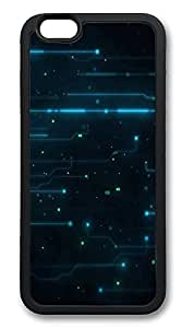 iPhone 6 Cases, Abstract Tron Legacy Circuits Durable Soft Slim TPU Case Cover for iPhone 6 4.7 inch Screen (Does NOT fit iPhone 5 5S 5C 4 4s or iPhone 6 Plus 5.5 inch screen) - TPU Black