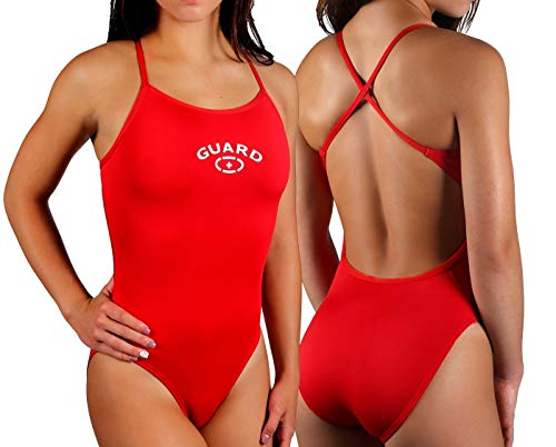 Adoretex Womens Guard Cross Back Swimsuit