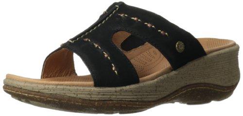 ACORN Womens Vista Slide Wedge Sandal Black