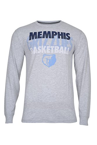 fan products of NBA Men's Memphis Grizzlies T-Shirt Supreme Long Sleeve Pullover Tee Shirt, Large, Gray