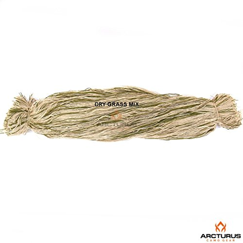 Ghillie Suit Thread - Lightweight Synthetic Ghillie Yarn to Build Your Own Ghillie Suit (Dry Grass Mix)