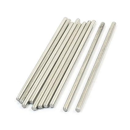eDealMax acero inoxidable barra redonda (10 piezas), 50 mm x ...