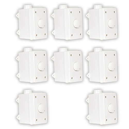 Theater Solutions OVCDW Outdoor Volume Controls White Weatherproof Dial 8 Control Set by Theater Solutions