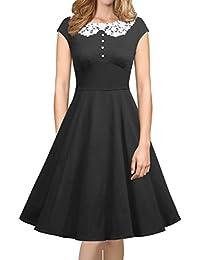 Womens Classy Vintage Audrey Hepburn Style 1940's Rockabilly Evening Dress