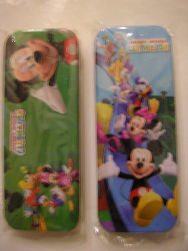 (Disney Mickey Mouse Clubhouse Metal Tin Pencil Box Case ~ Asssorted Print)