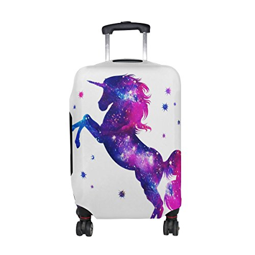 Mahu Travel Luggage Cover Magical Unicorn Suitcase Protective Cover Washable Spandex Fit for 18-32 Inches