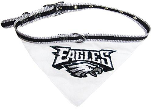 NFL BANDANA - PHILADELPHIA EAGLES PET BANDANA with Reflective & Adjustable PET COLLAR, Medium