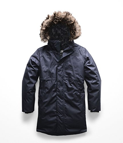 The North Face Kids Girl's Arctic Swirl Down Jacket (Little Kids/Big Kids) Urban Navy Small