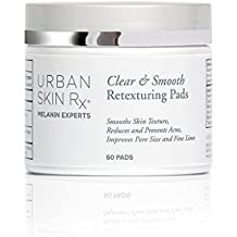Urban Skin Rx Clear & Smooth Pads Multi Purpose Retexturing Pads with Natural Acids and Extracts for Exfoliation 60 Pads