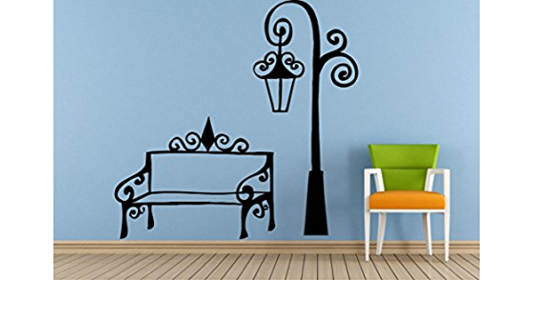 City Town Street Park Lamp Post Old Antique Vintage Window Or Wall Or Car Vinyl Peal And Stick Removable Sticker Decal L1465