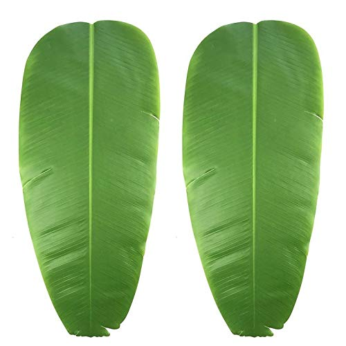 Bamboo Leaf Table Lamp - Mats & Pads - 2 Pieces Simulation Leaves Banana Placemat Eva Dining Table Mat Non Slip Pad Waterproof Disc Pads - Sticker Circle Bamboo Placemat Drink Place Bag Coaster Cotton Placemat Tabl N