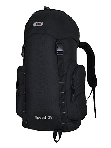 38L Army Assault 2 Day Camping Hiking Military Backpack (Black)