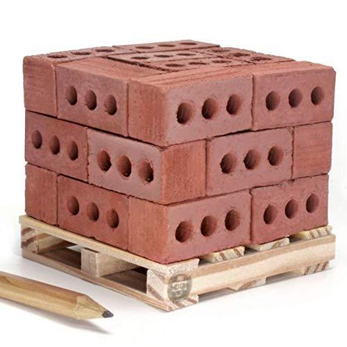BB67 Mini Bricks Set-Kids Toys New 32Pcs Mini Red Bricks Miniature Cinder Blocks - Build Your Own Tiny Wall(Size:3.3x1.7x1.7cm)-The Best Gift for Children - Miniature Block Cinder