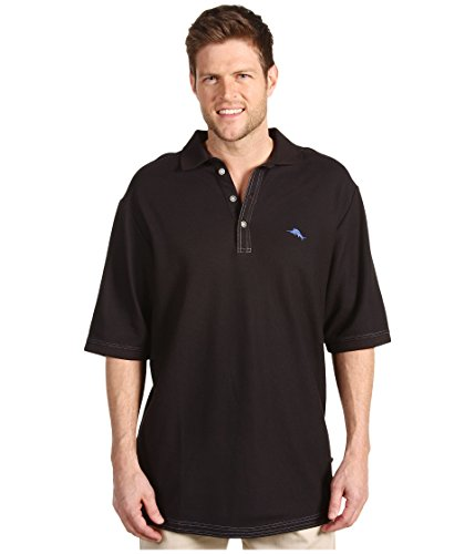 Tommy Bahama Big & Tall Men's Big & Tall Emfielder Polo Shirt Black 1X B (Tommy Bahama Polo)
