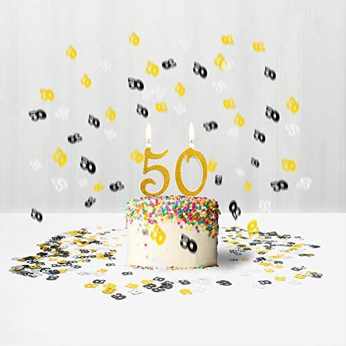 Confeti y Velas, Tarta 50 para Fiesta temática cumpleaños ...