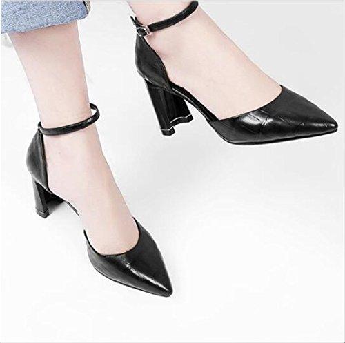 Fashion Sheepskin Sandals 43 8 Pumps Pointed Fabric Black Size Toe 34 Cm Heels Shoes 5 VIVIOO Prom 8 Beautiful High xa4qnIX