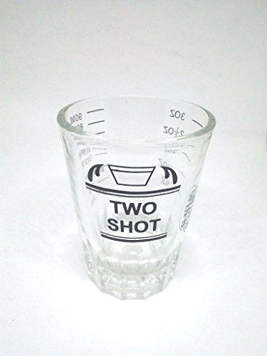 1 PCS 90ml. (3 Oz.) Measuring Cup Glass Shot Jigger Brown label Tools Kitchen Cooking By amazingmarketonline.