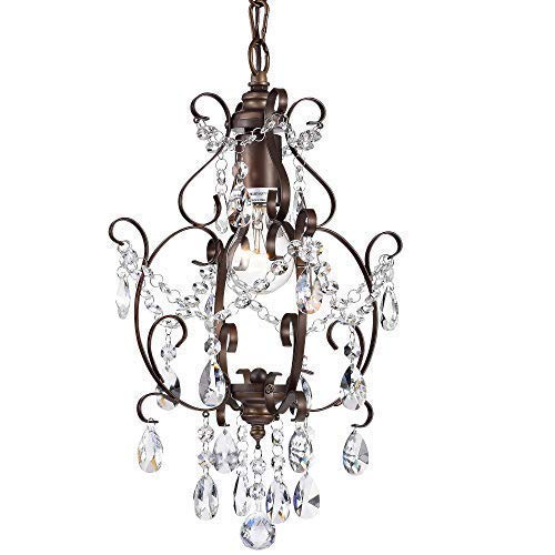 Bronze Chandelier Crystal Mini Chandelier Lighting for sale  Delivered anywhere in USA