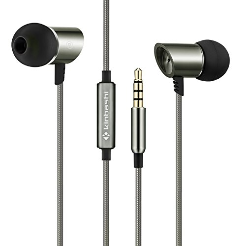 Kinbashi Noise Isolating Earbuds In-ear Headphones With Microphone And Remote (bronze)
