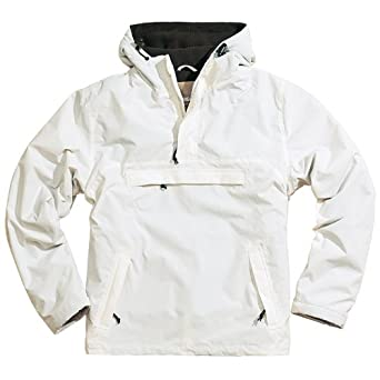8c4e9d436 Surplus Windbreaker Anorak Hooded Mens Rain Jacket with Fleece White ...