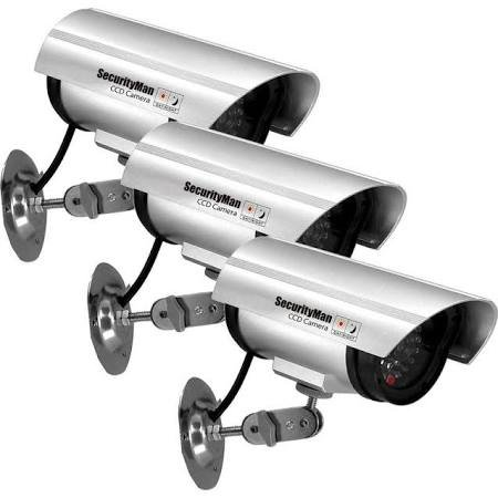 Dummy Indoor Camera with LED - Set of 3