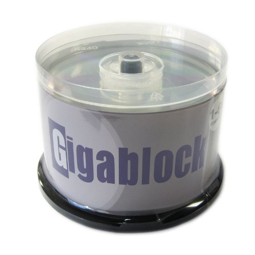 600pcs Gigablock Blu-Ray BD-R 6x 25GB Premium Blank Media Made in Taiwan by Gigablock