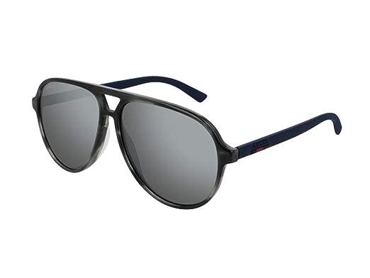 28f2ad82f7 Gucci Lunettes de soleil aviator homme GG0423S (010 havana/gris ...