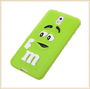 IVY Green - 3D Rainbow M&M Bean Soft Silicone Gel Case Skin For Samsung Galaxy Note 3 N9000