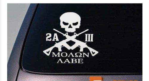 2A MOLON LABE three percenter sticker ar decal 2nd amendment obama *D726* . (2nd Amendment The Decal Support)