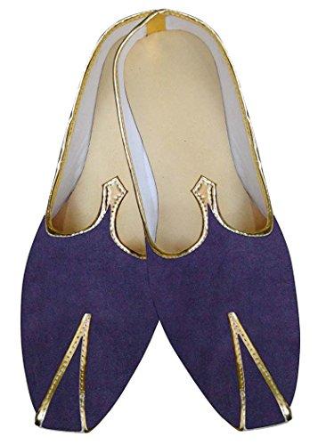 INMONARCH Mens Regency Velvet Indian Wedding Shoes MJ015142 LbjLfwRBok