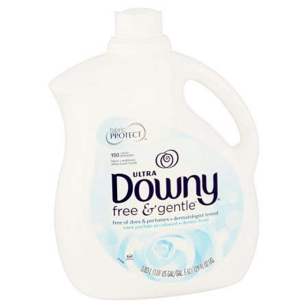 Ultra Downy Free & Gentle Liquid Fabric Conditioner, Pack of 2 Bottles,129 FL oz. ea, 258oz Total