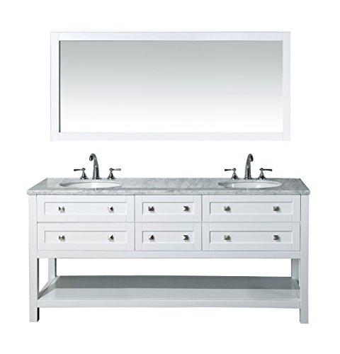 Stufurhome Marla 72 inch Double Sink Bathroom Vanity with Mirror in -