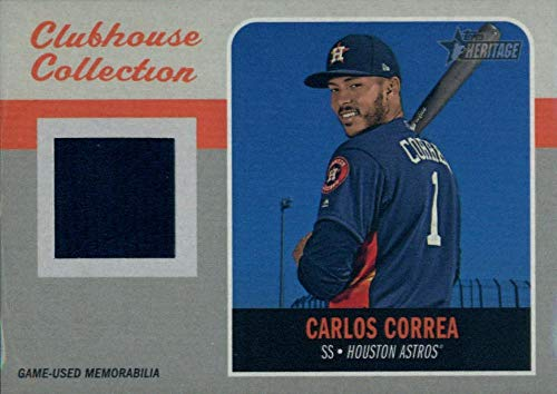 2019 Topps Heritage Clubhouse Collection Relics #CCR-CC Carlos Correa MEM Astros Baseball MLB from Heritage Products