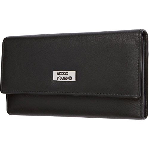 Access Denied Womens Leather Trifold