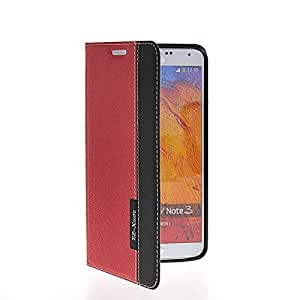 Fadlike Slim Side Flip Leather Card Pouch Stand Case Cover For Samsung Galaxy Note 3 N9000 Red