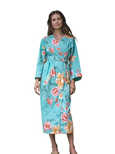 Dynasty Robes Womens Printed Collar Tang