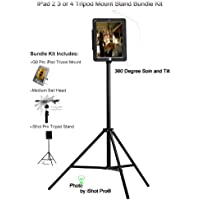 G9 Pro® New iPad Tripod Mount Metal Case and Stand Bundle Kit (For iPad 2, 3 or 4 Retina Only) with Built-In Keyed Security Lock by iShot Pro® Mounts - Adapter - Holder - Bracket - iPad 2 3 4 Case - Made in the U.S.A - High Quality *All Metal* Custom iPad Frame - Great for Coaches, Golfers, Musicians, Teachers, Photography, Video, Students, Displays, Home Use, Business and Much More! - Easily and Safely Mount Your iPad 2 3 or 4 - Bundle Kit Includes: Lightweight Tripod Stand with Carry Bag, Med. Ball Head and G9 Pro Mounting Case - NEW 2014 iPad Camera / Video / Movie Mount Accessories