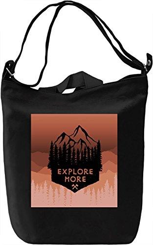 Explore More Borsa Giornaliera Canvas Canvas Day Bag| 100% Premium Cotton Canvas| DTG Printing|