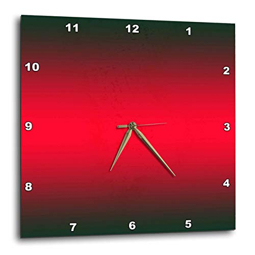 (3dRose DPP_112050_2 Black, Red, Black Gradient Color-Wall Clock, 13 by 13-Inch)