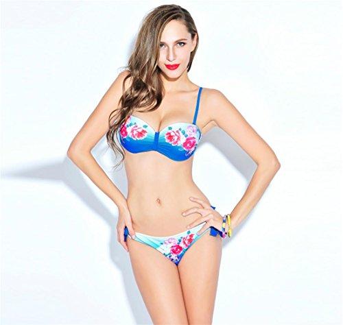 SHISHANG Sra. Bikini traje de baño de dos piezas traje de baño de resorte caliente Europa y los Estados Unidos nueva moda respetuosa del medio ambiente de alta elasticidad color
