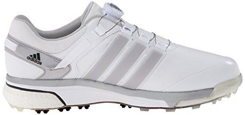 adidas Mens Adipower Boa Boost Golf Shoe Running White/Dark Silver Metallic/Running White laBJqv2V4