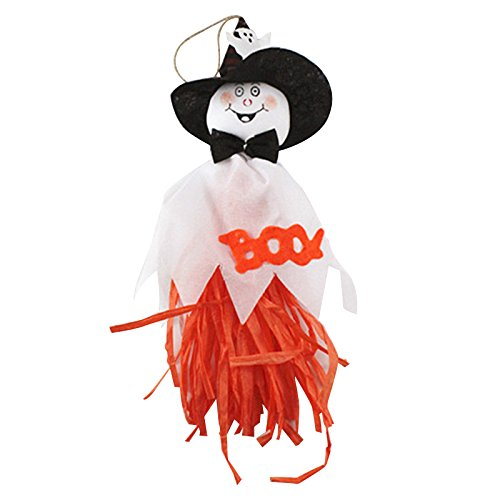 Cikuso 1 Pz 33x17 cm Carina Fantasma Sospeso hangtag Halloween Decorazione Bambini Divertente scherzoso Giocattoli Puntelli Halloween Festa?Supplies Bianca